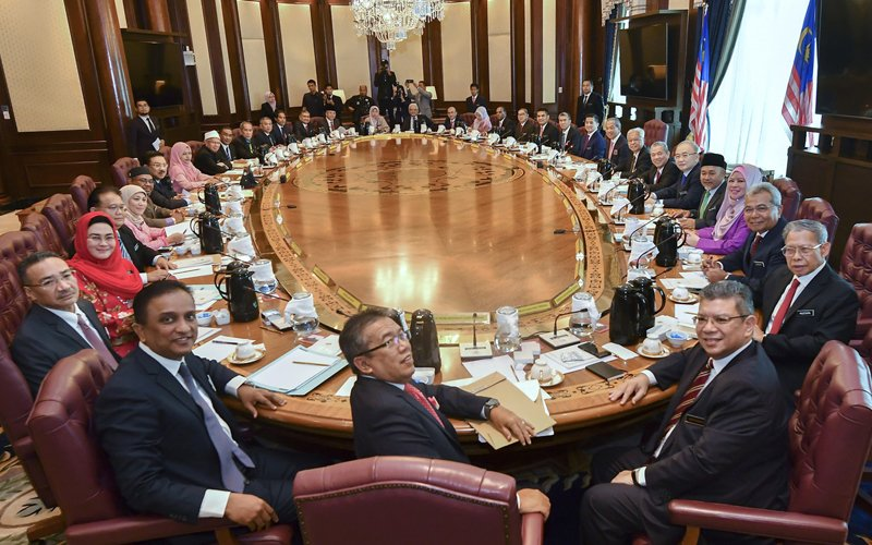 Prime Minister Muhyiddin Yassin chaired his first Cabinet meeting at Perdana Putra in Putrajaya on 11 March.