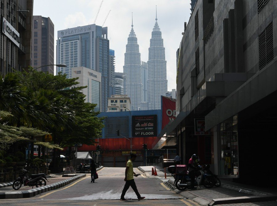 A quiet Kuala Lumpur street during the Movement Control Order.