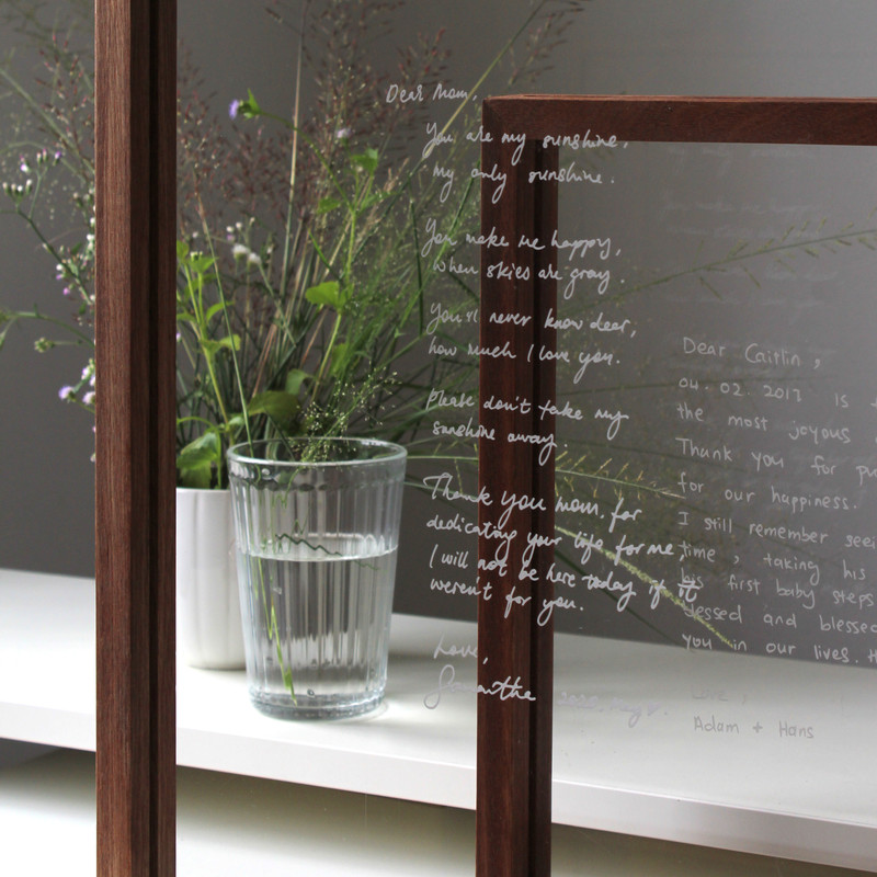 Keep it simple with an engraved personalised note or Mother's Day letter.