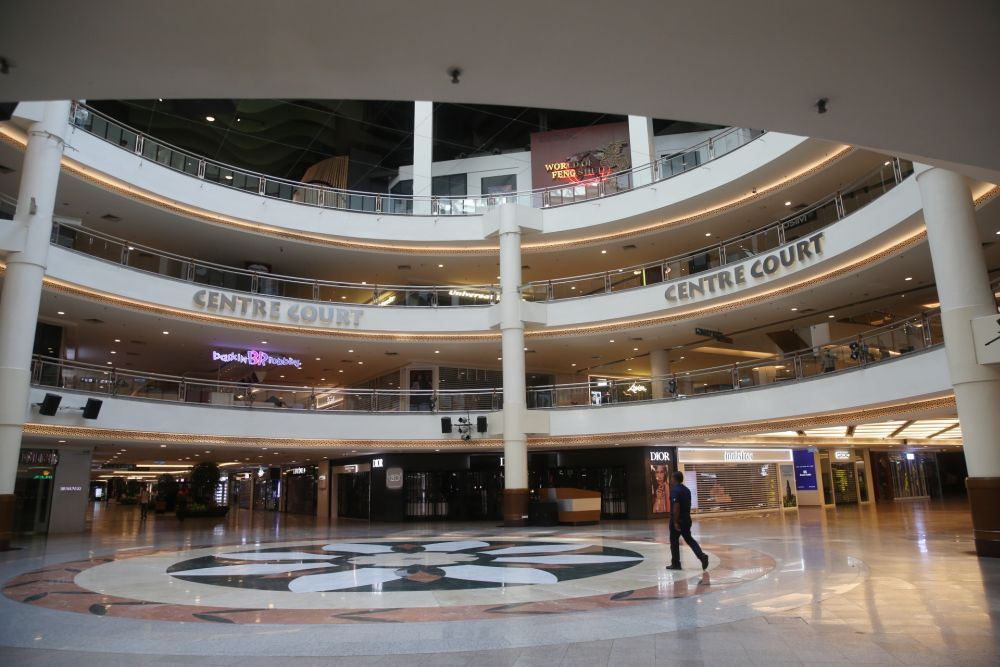 An empty mall in Kuala Lumpur after the MCO came into effect.