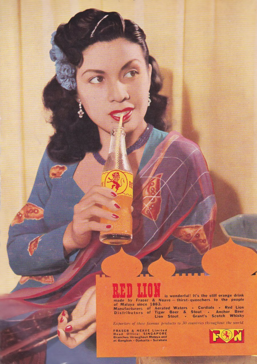 F&N roped in Malay actress Maria Menado for one of its advertisements in the 1950s.