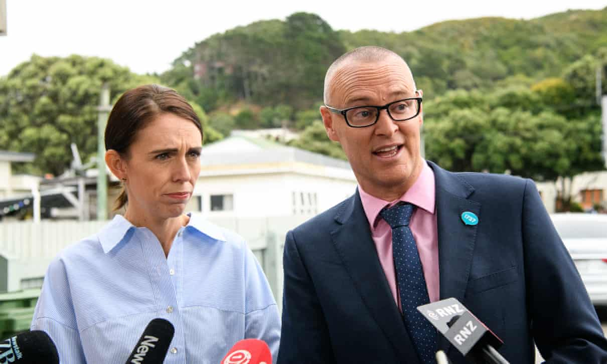 Jacinda and Health Minister Dr David Clarke.