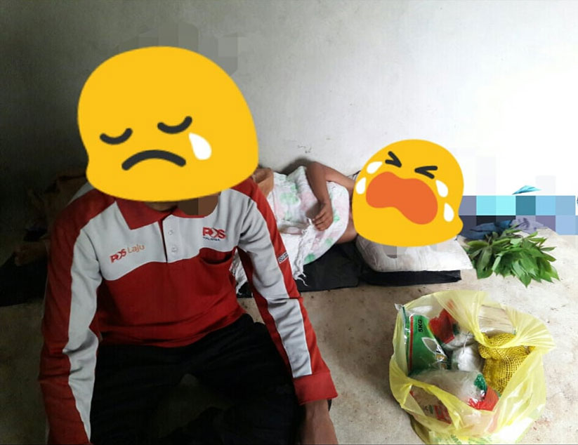 Amye had on Monday provided SAYS with photos of the postman's living quarter after she visited his house to give him some essentials during this trying time.