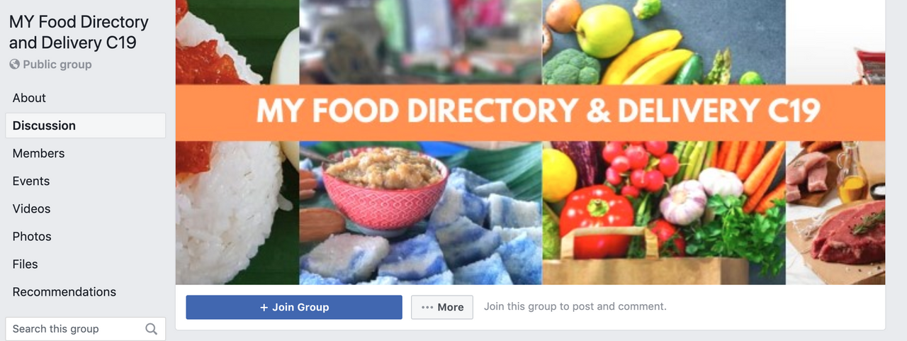 Image from MY Food Directory and Delivery C19/Facebook