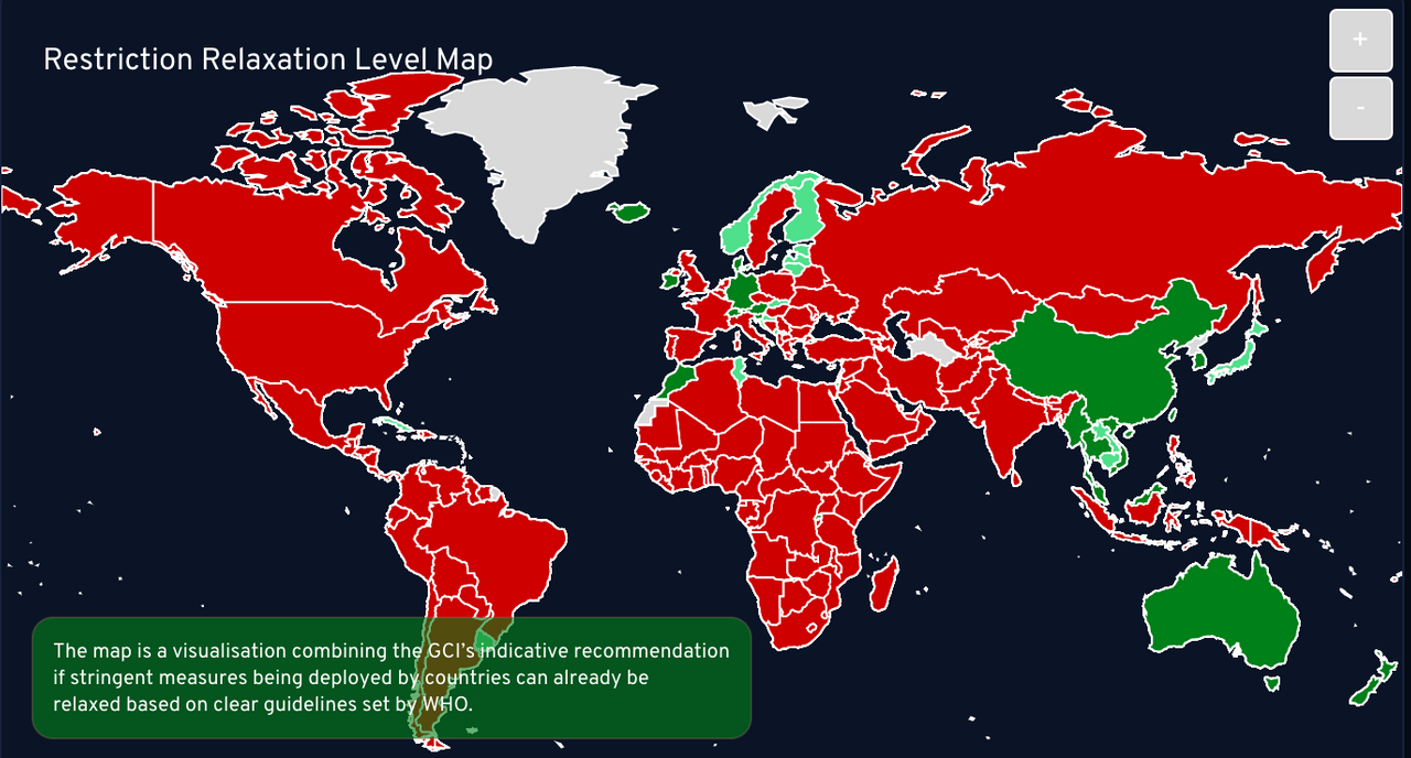 Restriction relaxation level map.