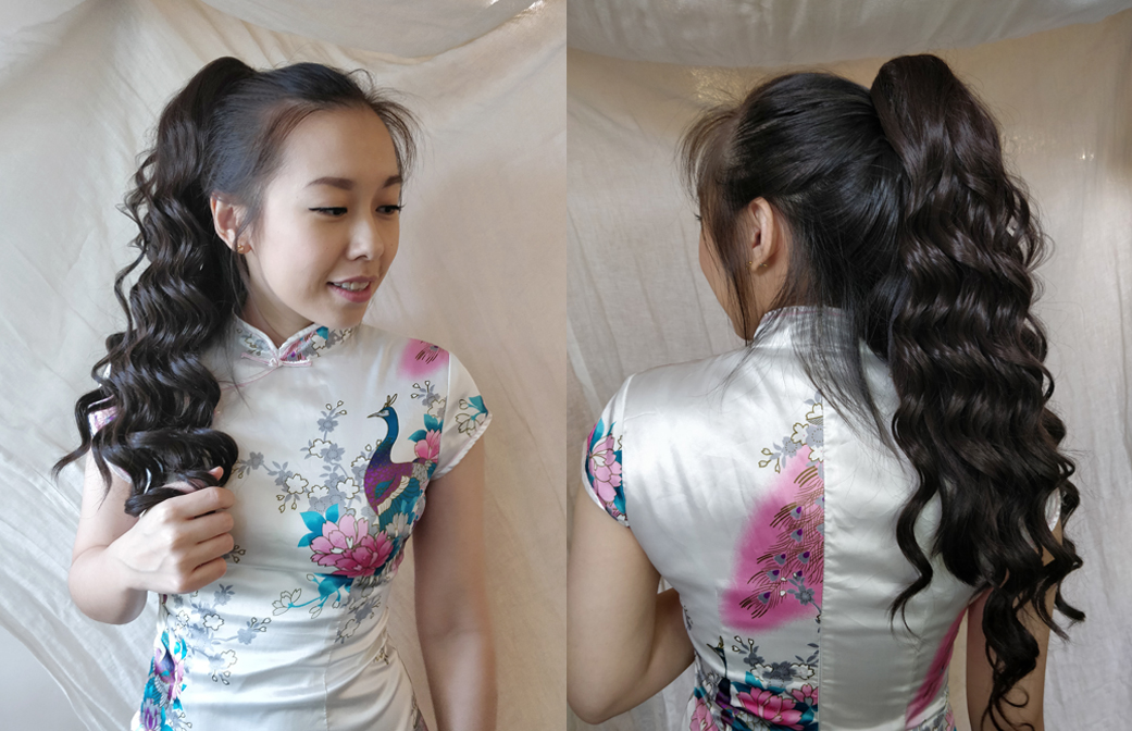 Sook Yee, our model, went from straight hair to curls in just five seconds.