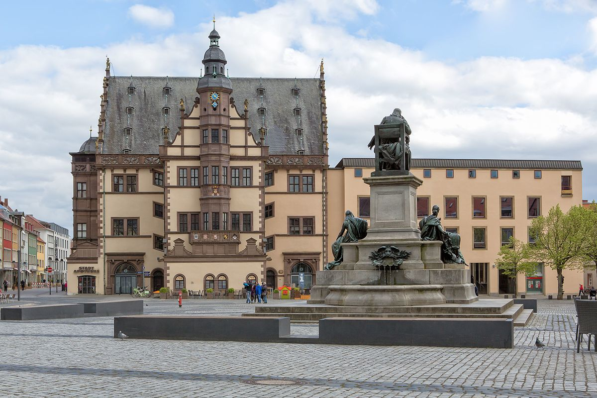 The market square in Schweinfurt, Bavaria.