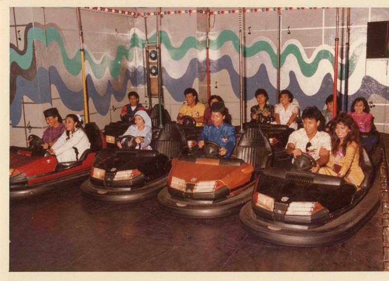 Bumper car ring at Sungei Wang Plaza in the 1970s.
