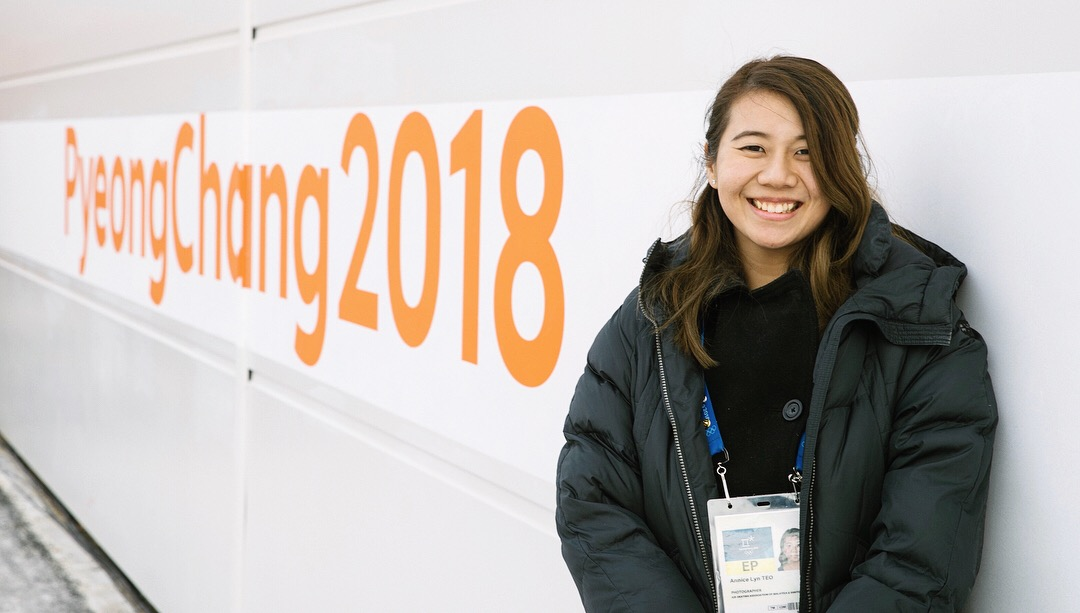 Teo at the 2018 Olympic Winter Games in Pyeongchang.