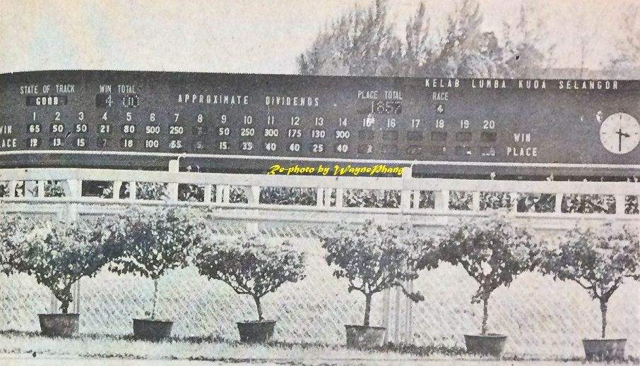 Kelab Lumba Kuda Selangor in 1976.
