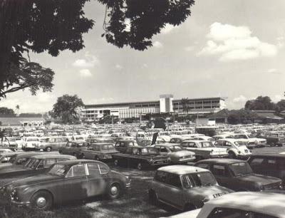 Selangor Turf Club's parking lot.