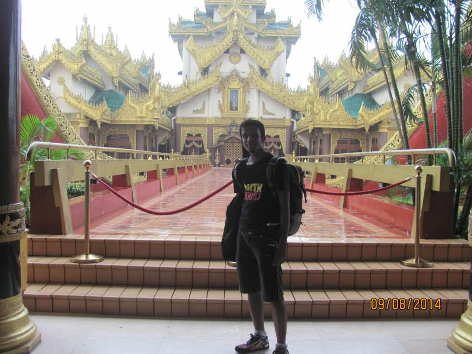 His first trip to Myanmar in August 2014.