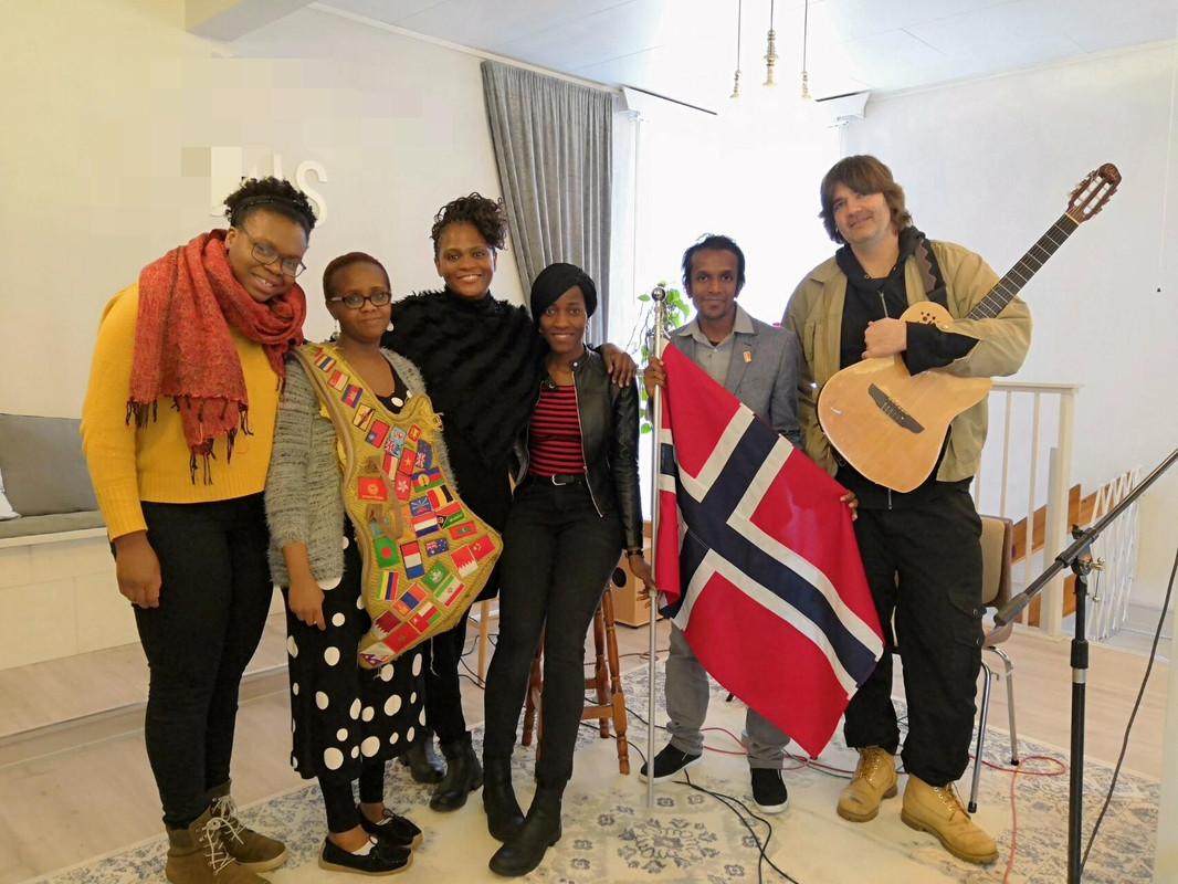 Jeshurun with a few of his friends in Oslo, Norway.