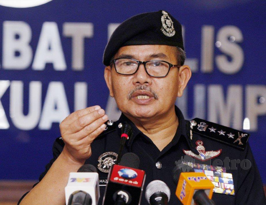 Kuala Lumpur police chief Datuk Seri Mazlan Lazim.