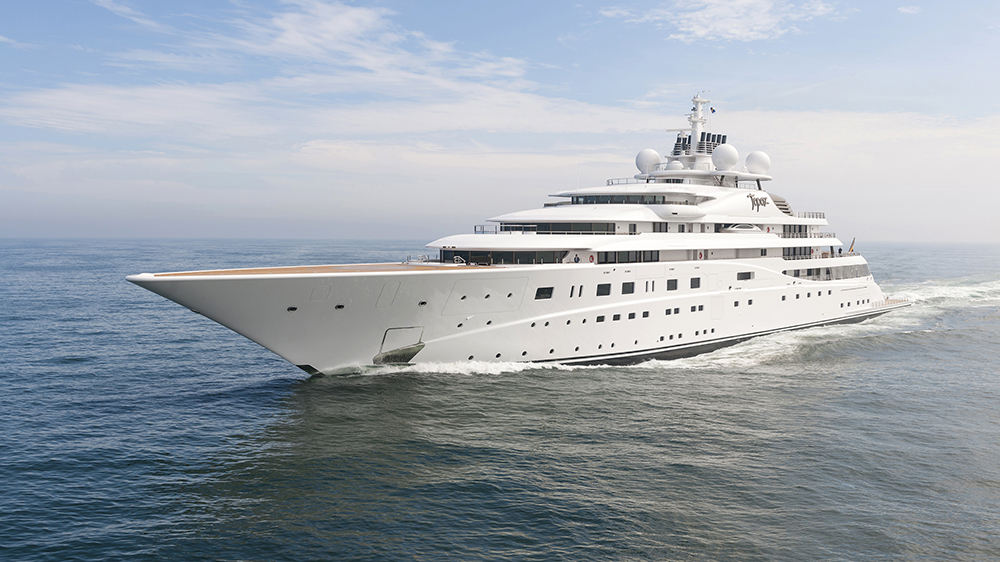 Superyacht named The A+.