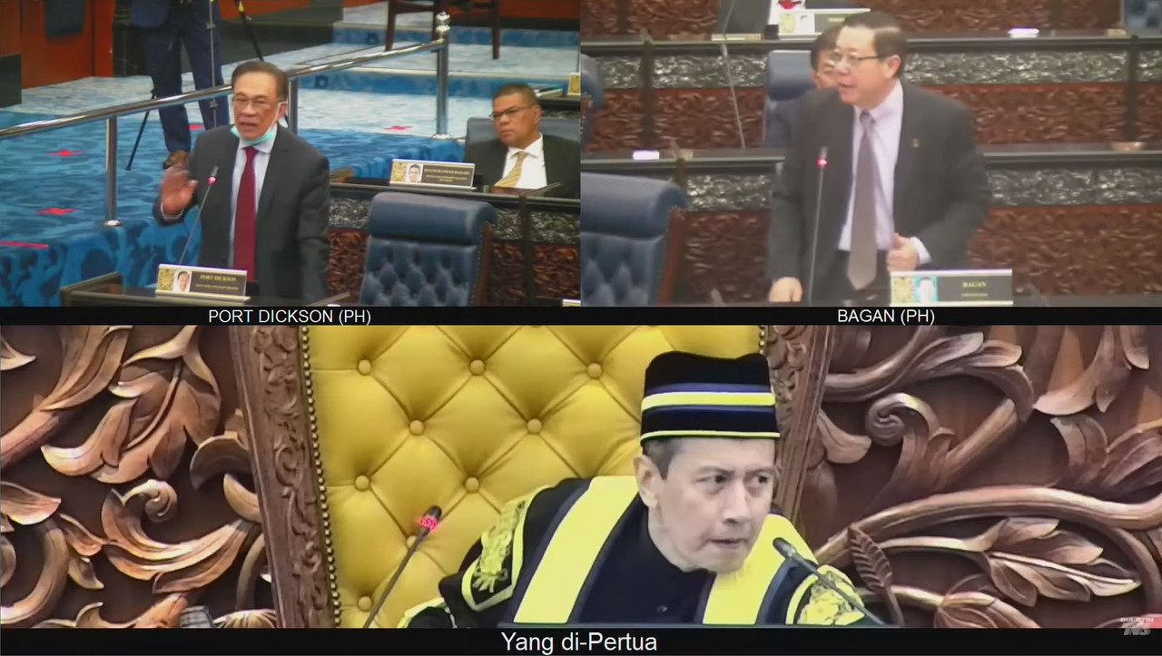 Clockwise, from top left: Opposition leader Datuk Seri Anwar Ibrahim, Bagan MP Lim Guan Eng, and newly-minted Dewan Rakyat speaker Azhar Azizan Harun.