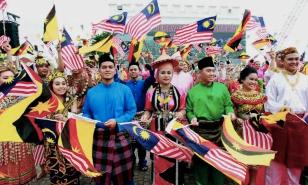 Sarawakians gathered at the Kuching Waterfront in 2016 to commemorate the state's inaugural Sarawak Day celebration.