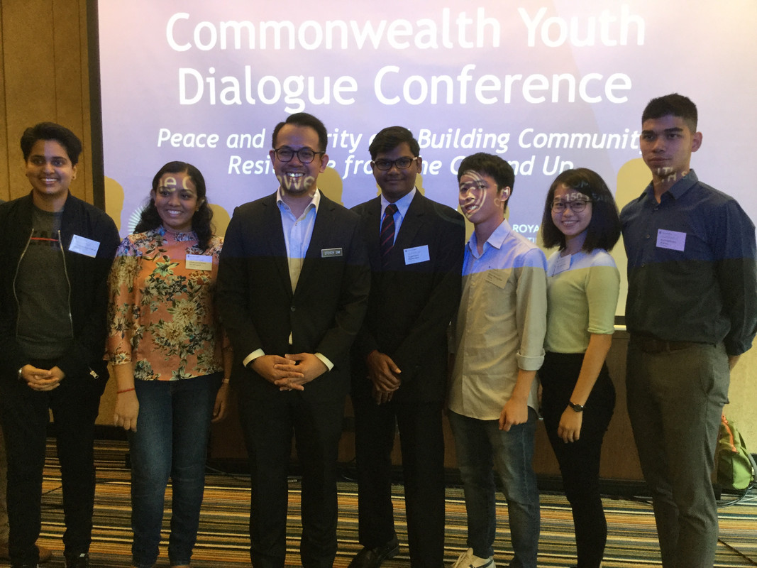 Yugendran at the Commonwealth Youth Conference in Kuala Lumpur.