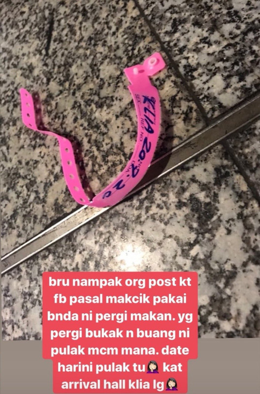 Pictures of discarded wristbands in KLIA have been circulating the Internet.
