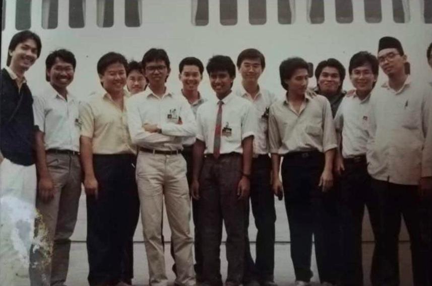 Dr Noor Hisham (far left) as a student at the Universiti Kebangsaan Malaysia (UKM).