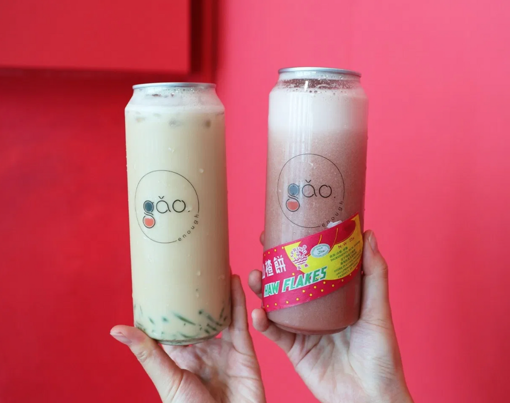 Cendol-flavoured 'Franchise Light Favourite' (left) and 'Haw Flakes Apple Smoothie' (right).