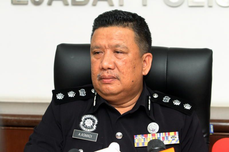 Ipoh district police chief A Asmadi Abdul Aziz.