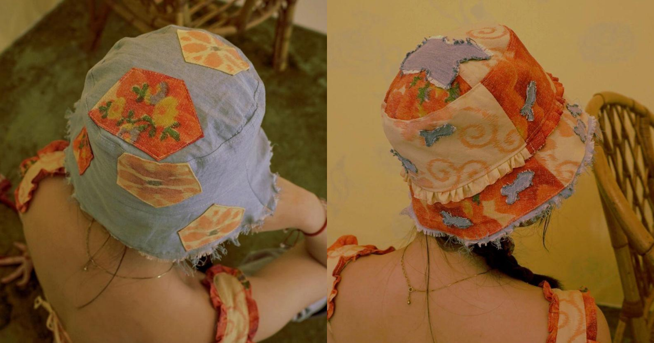 Their 'Fish Pond Bucket Hat' is reversible too.