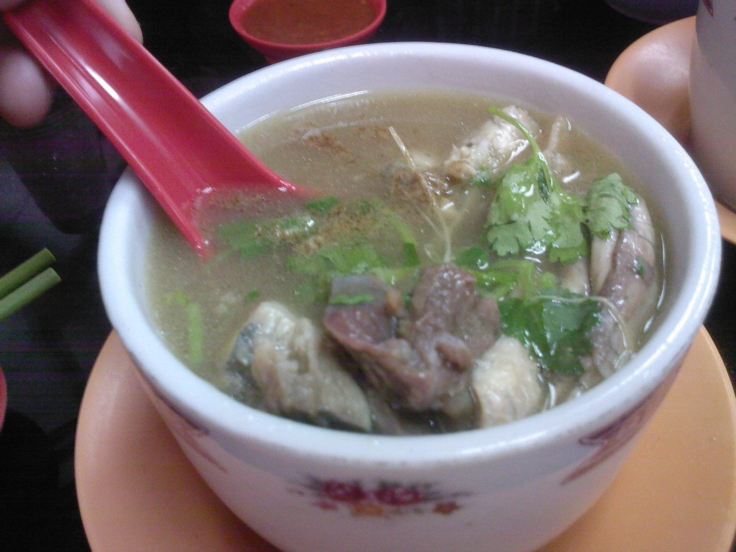 A bowl of Chinese turtle soup in Singapore.
