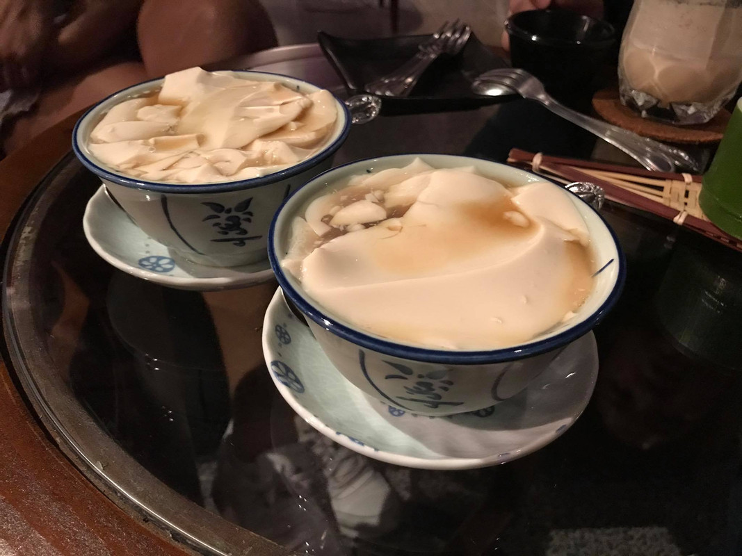 Tau Fu Fah is served with either brown sugar or ginger syrup - and both were good!