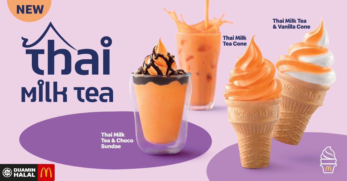 McDonald's Perkenal Aiskrim Thai Milk Tea, Brown Sugar Boba Milk & Banyak Lagi. Nyummy!