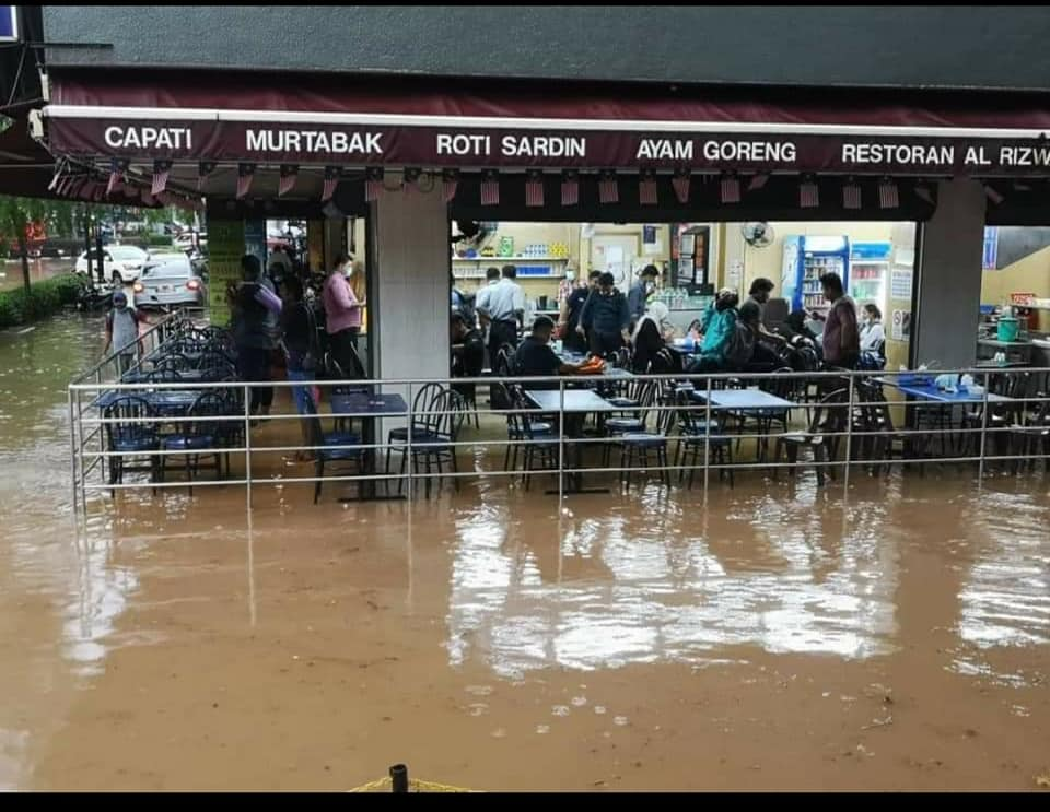 Flash floods occurred in KL two weeks ago.
