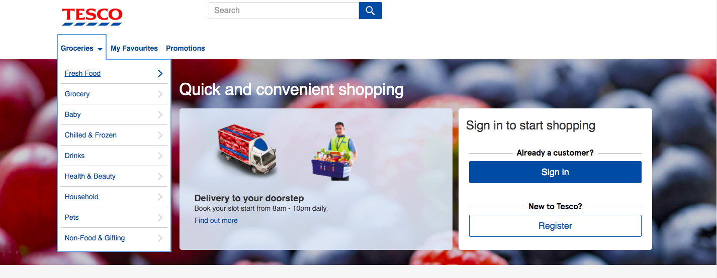 Image from Tesco