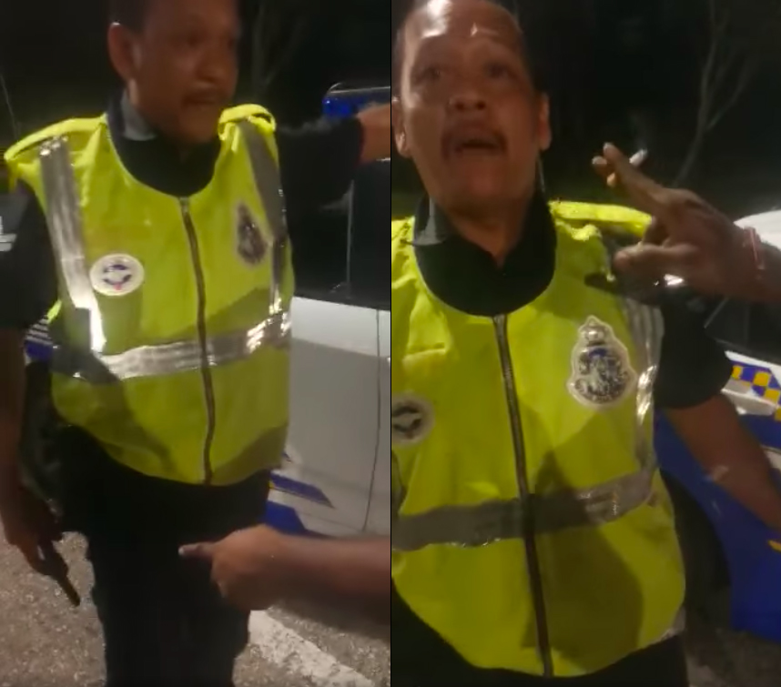 Screenshots from the video that was shared by Bernama last night.