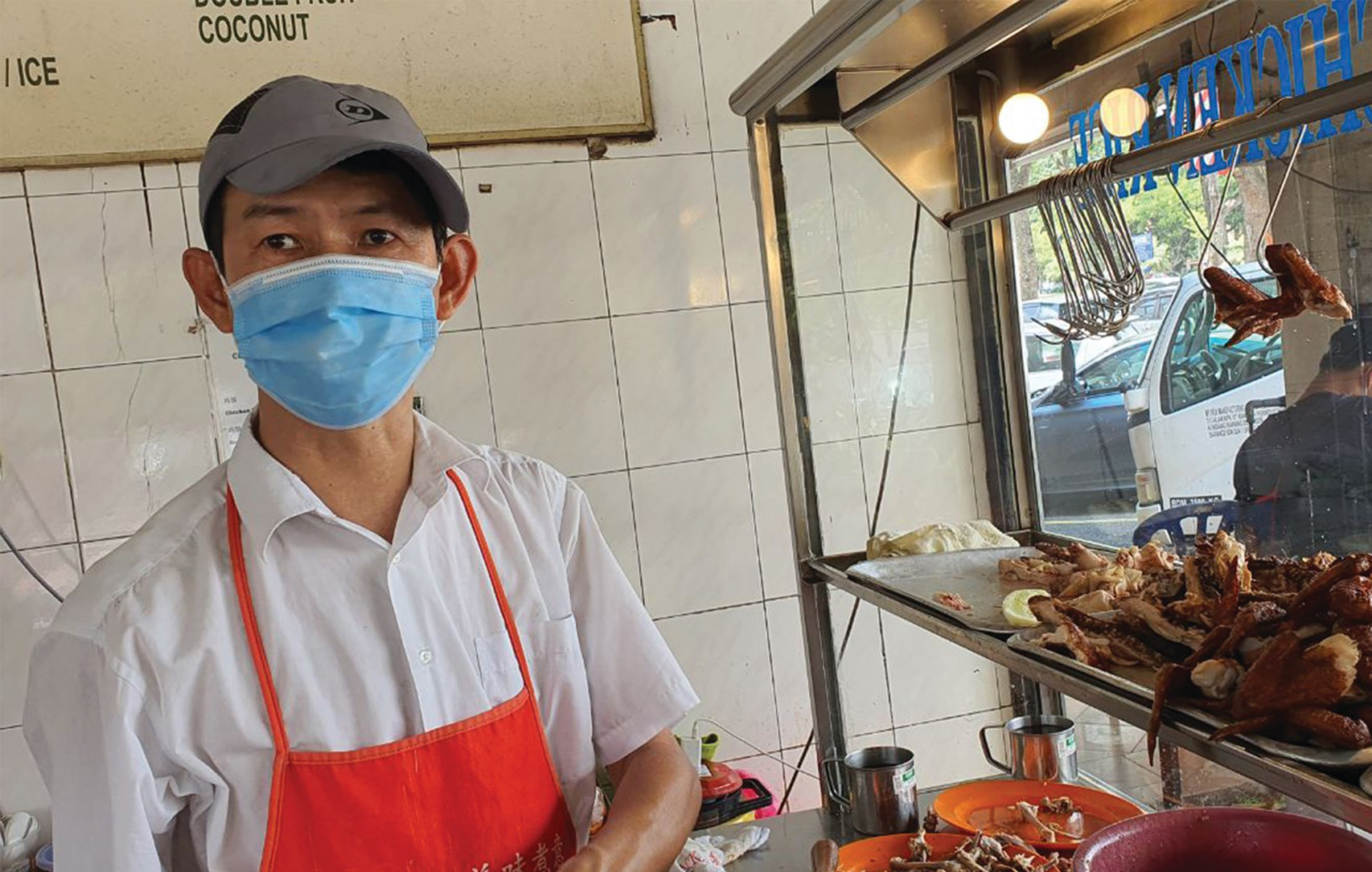He has been operating the Chuan Kee chicken rice stall in USJ 4 for the last 20 years.