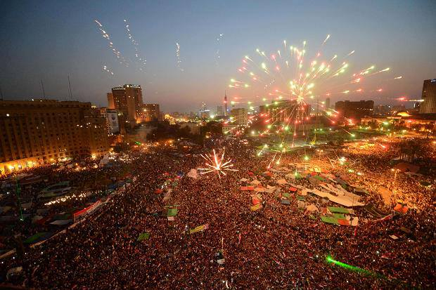 "BBC about Egypt:""The number of people protesting today is the largest number in a political event in the history of mankind"""