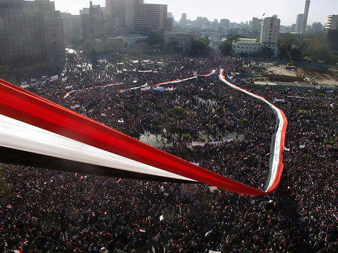The protest was held in Tahrir Square on June 30th. Image from Mike Nikolaou.