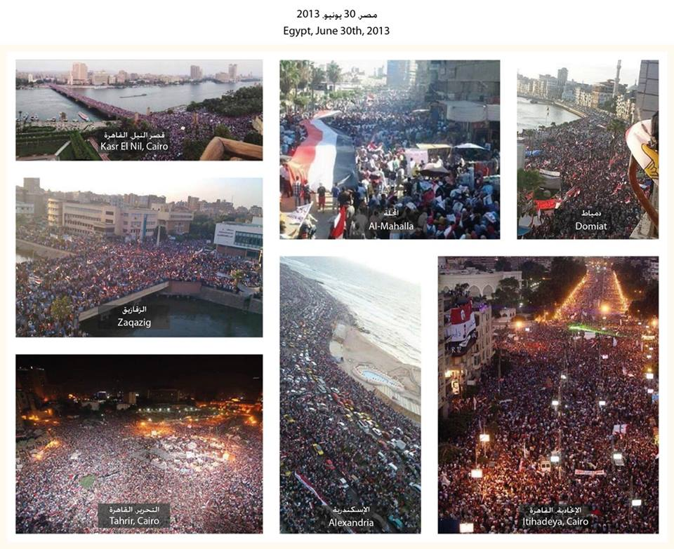 The June 30th protest in Egypt spread across several states