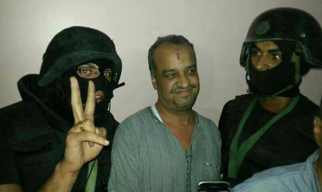 Muslim Brotherhood Mohamed El-Beltagy is arrested (Photo: Facebook.com/elshortaelmsrya)