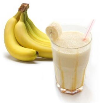 Having a banana and a glass of milk before bed can help you sleep more soundly. Photo for illustration purposes only.