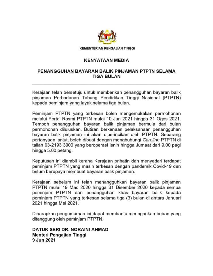 Image from Perbadanan Tabung Pendidikan Tinggi Nasional (PTPTN)