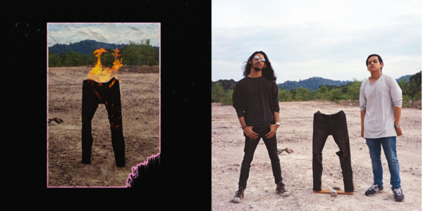 The album cover (L) and behind the scenes (R)