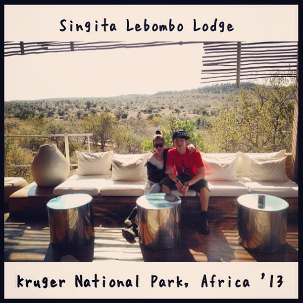 """thanks for an amazin' African safari adventure trip! U da best!  u~  @vandaliztik x"" - Photo from Instagram."